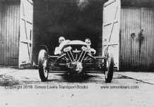 Morgan 3 wheeler . Tommy Rhodes at Brooklands 1932 Relay Race